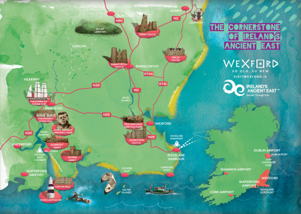 Wexford Map Of Ireland.Visit Wexford Hook Lighthouse Heritage Centre